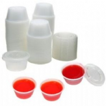 Clear Plastic 2oz Pots & Lids (Ideal For Serving Sauces And Dressings)